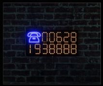Telephone LED Sign